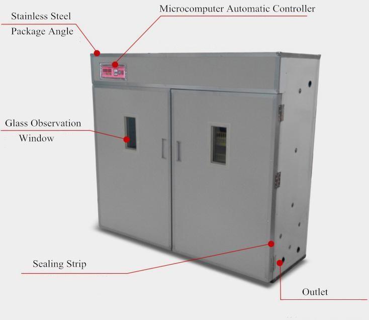 बहु आकार स्वचालित अन्डा Incubator